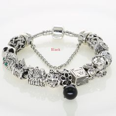 Silver Original Charm Bracelets Official Design Beads For New Year Jewelry Gifts Fit Women's Fashion Charmed Bracelets