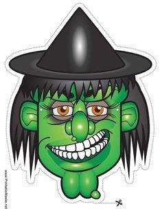 Over 200 Free Printable Halloween Masks for Kids.