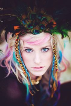 Hair Chalk style pic on Free People