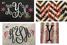 Monogram Elements Set of 8 Embroidery Designs By: Just Peachy