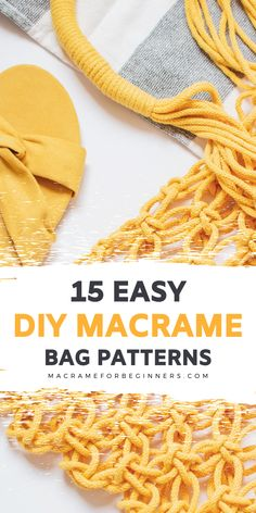 Macrame Supplies, Macrame Projects, Macrame Purse, Macrame Knots, Diy Bags Easy, Easy Diy, Weaving Loom Diy, Free Macrame Patterns, Macrame Wall Hanging Patterns
