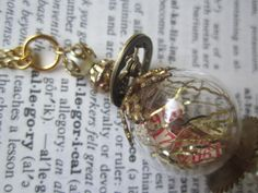 The orb of Steampunk Time  Necklace  Jewelry  Gold  by DreamAddict