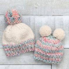 Knitting Pattern // Cabled Hat and Mittens Pattern // Cable Hat Pattern // Hat Knitting Pattern // Cabled Mitten Pattern Beanie Knitting Patterns Free, Knit Beanie Pattern, Baby Hats Knitting, Mittens Pattern, Loom Knitting, Knitted Hats, Lion Brand Wool Ease, Crochet Patterns For Beginners, Pom Pom Hat