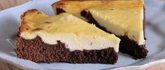 Cheesecake con base brownie