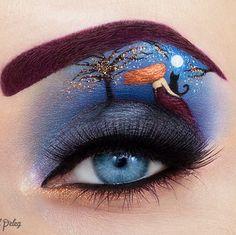 Ngắm những kiệt tác chuyên gia trang điểm vẽ trên mí mắt - Hình 10