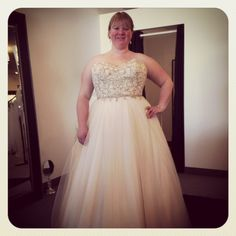 Curvy bride, plus size wedding dress, rock your curves #luxebridal ...