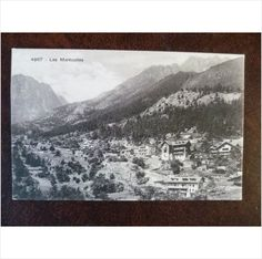 Switzerland Les Marecottes vintage Louis Burgy postcard 4967 mountains chalets