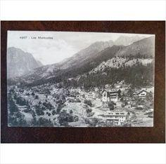 Switzerland Les Marecottes vintage Louis Burgy postcard 4967 mountains chalets