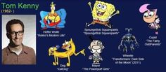 Spongebob, Dog of CatDog, and the Mayor in Powerpuff Girls area all played by the same actor! He also narrated The Powerpuff Girls! Popular Cartoons, Famous Cartoons, Voice Acting, The Voice, Beetlejuice Cartoon, Tom Kenny, The Fairly Oddparents, Charlie Brown And Snoopy, Comic Book Characters
