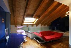 Ristrutturazione e arredo attico - Angolo relax - Maria Teresa Azzola Designer - Trescore Balneario (BG) 2003-2004