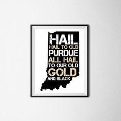 Hail Purdue Print Purdue University Print Purdue by TheKimDavis Purdue University, Alphabet Print, Letter Board, Etsy Shop, Prints, Door Decorating, Design, Crafting, Craft