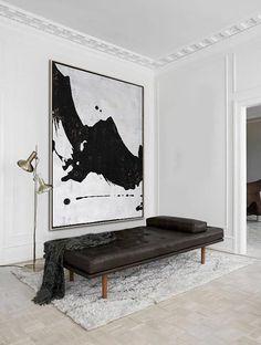 5 Jaw-Dropping Ideas: Minimalist Home Studio Inspiration minimalist interior apartment minimalism.Minimalist Home Studio Inspiration minimalist bedroom lighting woods. Minimalist Interior, Minimalist Decor, Minimalist Kitchen, Minimalist Living, Minimalist Bedroom, Modern Minimalist, Black And White Abstract, White Art, Art Minimaliste