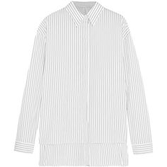 Dion Lee Pinstriped cotton-poplin shirt (5 300 UAH) ❤ liked on Polyvore featuring tops, blouses, shirts, dion lee, white, white button shirt, white blouses, oversized blouse, oversized button-down shirts and pinstripe blouse