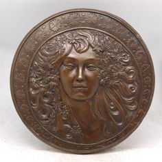Wow~I mean WOW!!!!  This needs to be on my wall.     Art Nouveau Solid Bronze Lady Wall Plaque Alphonse Mucha 'Sarah Bernhardt' | eBay
