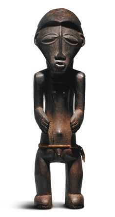Buyu Male Ancestor Figure, Democratic Republic of the Congo Height: 17 1/4 in (43.8 cm)  READ note