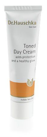 Toned Day Cream by Dr.Hauschka. $31.75. Offers soothing and gentle protection.. Key Plant Ingredients: Peanut Oil, Sweet Almond Oil, Anthyllis Extract, Quince Seed Extract, Rice Germ Oil, Wheat Germ Oil, Rose Wax, St. Johns'wort Extract and Essential oils.. Warm, beige color is transparent on the skin.. Designed to support and encourage the skin's ability to take care of itself by addressing the skin care problems rather than dealing with symptoms. Free of synthetic f...