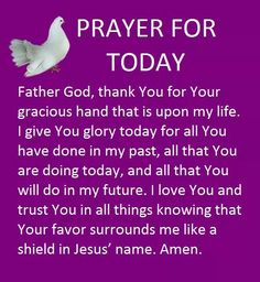 Glory to God Prayer For Today, Daily Prayer, Morning Blessings, Morning Prayers, Morning Devotion, God Prayer, Power Of Prayer, Christian Prayers, Christian Quotes