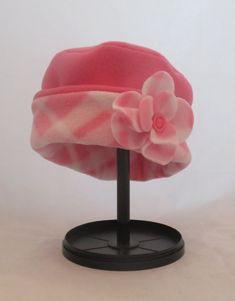 Reversible Fleece Child's Cloche Hat with by HandmadebyLaureen
