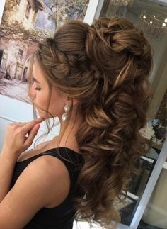 Best Ideas For Wedding Hairstyles : Featured Hairstyle: Elstile; High Ponytail Hairstyles, Headband Hairstyles, Down Hairstyles, Pretty Hairstyles, Easy Hairstyles, Hairstyle Braid, Bridal Hairstyles, Belle Hairstyle, Bridesmaid Hairstyles