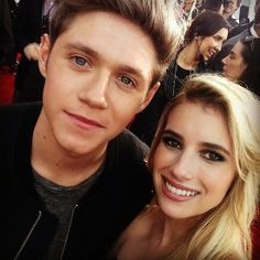 Emma Roberts posed with One Direction's Niall Horan at the American Music Awards on Nov.24,2013