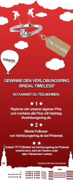 Gewinne den Verlobungsring Bridal Timeless! #CARADIA #verlobungsring #Gewinnspiel #Promotion #Aktion #Bridal #Verlobungsring #Schmuck