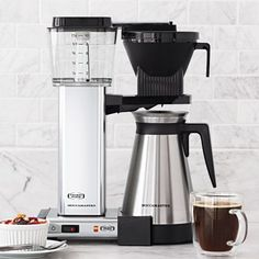 Technivorm® Moccamaster Coffee Maker with Thermal Carafe, Polished Silver, available at #surlatable