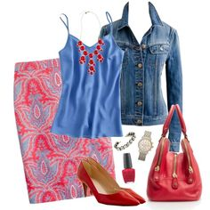 No. 2 Raj Paisley Skirt by handbagaficionado on Polyvore