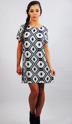 Print Shift, Aztec, Casual, Dresses, Fashion, Vestidos, Moda, Fashion Styles, Dress
