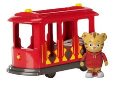 Amazon.com : Daniel Tiger's Neighborhood Trolley with Daniel Tiger Figure : Toy Figure Playsets : Toys & Games