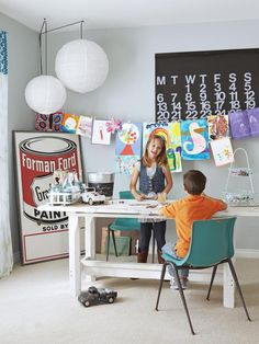 Tons of decorating ideas for children's playrooms #hgtvmagazine http://www.hgtv.com/decorating-basics/a-farmhouse-filled-with-unique-projects/pictures/page-16.html?soc=pinterest