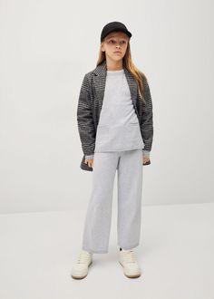 Pantaloni culotte maglia - Bambina | Mango Kids Italia Mango, Normcore, Collection, Style, Fashion, Elastic Waist, Knitting, Pants, Dots