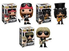 Funko POP! Guns N' Roses Vinyl Figure Set (3) Axl Rose Slash Duff McKagan