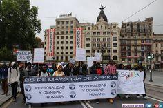 """Celebración día África 25/05/2015 en Bilbao Organiza: MovimientoPanafricano Marcha """"Conciencia Humana"""" +fotos: http://ecuadoretxea.blogspot.com.es/2015/05/celebracion-dia-de-africa.html"""