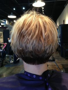 Inverted stacked bob..three colors...Colleen, what is an inverted stacked bob? Cute!