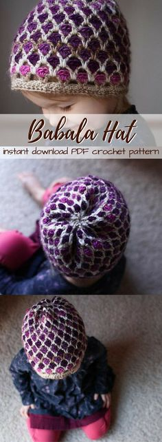 This is a great hat and a fun project that is much easier to work up than it looks! Photos added for complex parts of the pattern. Love this adorable beanie pattern in sizes newborn, baby, toddler, child and adult. #etsy #ad #handmade #crochet #pattern #toque