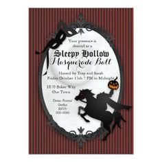 #Sleepy Hallow Headless Horseman Invitation - #halloween #party #stuff #allhalloween All Hallows' Eve All Saints' Eve #Kids & #Adaults