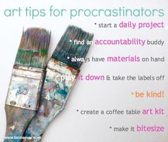 art tips for procras