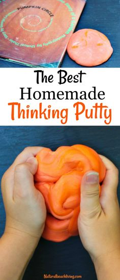 The Best DIY Thinking Putty for Halloween, Halloween Thinking Putty Recipe, make your own thinking putty, This makes a great Stress putty and sensory play