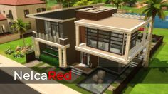 Modern Basegame Mansion by NelcaRed at Mod The Sims via Sims 4 Updates