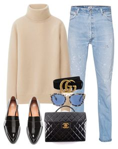 Sin título #2546 by camilae97 on Polyvore featuring polyvore, fashion, style, Uniqlo, RE/DONE, H&M, Chanel, Gucci and clothing