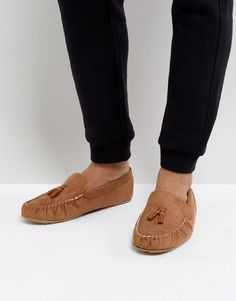 53a1417e7 ASOS Slippers In Tan With Faux Shearling Lining - Tan Fashion Design  Sketches, Dress Socks