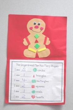 Gingerbread Man math graph- cute I do a variation with a Christmas tree that my scholars decorate with different foam shapes- this is cute too when reading the gingerbread man :-) Gingerbread Man Activities, Christmas Activities, Preschool Activities, Gingerbread Men, Gingerbread Man Kindergarten, Gingerbread Crafts, Christmas Math, Preschool Christmas, Preschool Crafts