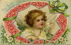 free angel postcard   Free Printable Art. Vintage Angel Postcard.