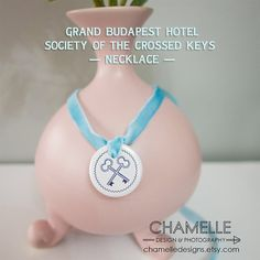 Society of the Crossed Keys Grand Budapest by chamelledesigns Key Necklace, Washer Necklace, Grand Budapest Hotel, Keys, Movie, Accessories, Key, Film Movie, Films