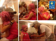 Shakira visita criança da Fundação Pequeño Deseo