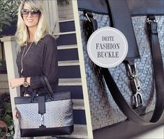 Fashion Buckle Bag in Mixed Faux Leather: Dritz® Notions | Sew4Home