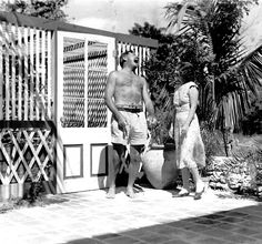 EH not dated Ernest and Pauline Hemingway at the Hemingway's Key West home. Photograph in the Ernest Hemingway Photograph Collection, John F. Kennedy Presidential Library and Museum, Boston. Ernest Hemingway House, Hemingway Quotes, Key West Florida, Old Florida, Florida Keys, Fl Keys, Vintage Florida, Pauline Pfeiffer, The Sun Also Rises