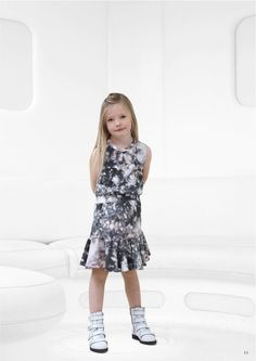 Sweet top and skirt combo for girlswear at Little Remix fall 2014 from Copenhagen