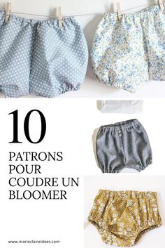 10 patrons pour coudre un bloomer / sewing patterns for kids / Comment coudre un bloomer