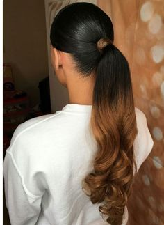 Imstyle Pink Lace Front Wigs Natural Long Wave Rose Peach Hair Replacement Wig with G . Hair Ponytail Styles, Black Ponytail Hairstyles, Sleek Ponytail, Weave Hairstyles, Pretty Hairstyles, Curly Hair Styles, Natural Hair Styles, Ponytail Ideas, Ponytails For Black Hair